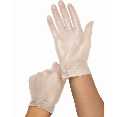 Vinyl Powder-Free Clear Exam Gloves, Size M SB512 by Medline