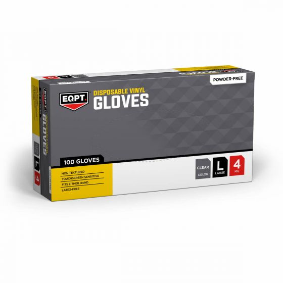 Medline EQPT Vinyl Industrial Gloves L 1000Ct EQPT4133 by Medline