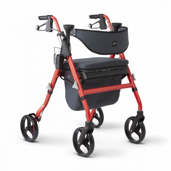 Medline Empower Rollator Microban Red 1Ct MDS86845RD by Medline