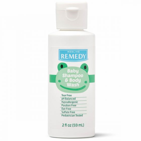 Remedy Baby Shampoo & Body Wash 2oz 144/CS MSC092FW02 by Medline