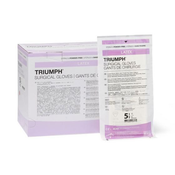 Triumph Latex Surgical Gloves - Shop All PF00389 by Medline