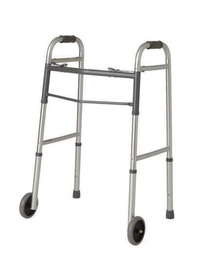 Guardian Two-Button Folding Walkers with 5 in. Wheels
