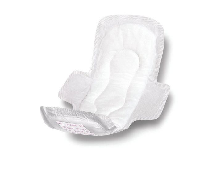 Medline 11in Max Absorbency Sanitary Pad with Wings - All PF06263 by Medline