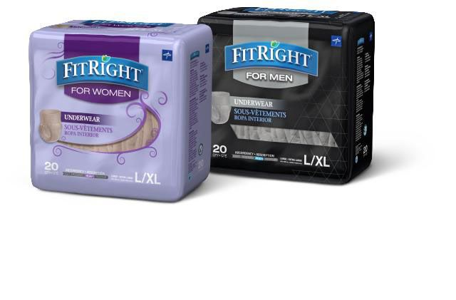 Medline FitRight Disposable Underwear for Men and Women PF184201 by Medline