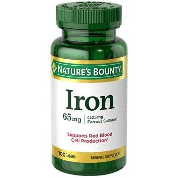 Nature's Bounty Iron Mineral Supplement 65 mg 100Ct OTC539561 by Nature's Bounty