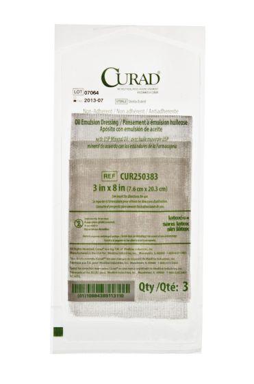 """CURAD Sterile Oil Emulsion Gauze Dressing 3""""x8"""" 648Ct CUR250383 by Medline"""