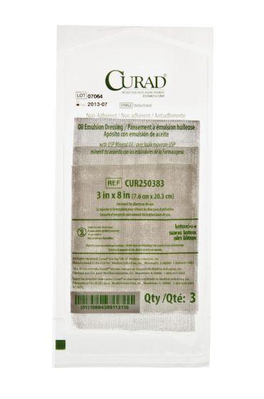 """CURAD Sterile Oil Emulsion Gauze Dressing 3""""x8"""" 108Ct CUR250383Z by Medline"""