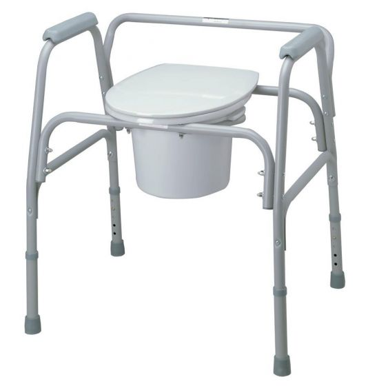 Replacement Medline Bariatric Commode Seat with Lid 1Ct MDS89664SLXW by Medline
