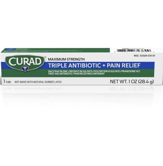 CURAD Triple Antibiotic Ointment Pain Relief 1oz 1Ct CUR001232H by Medline