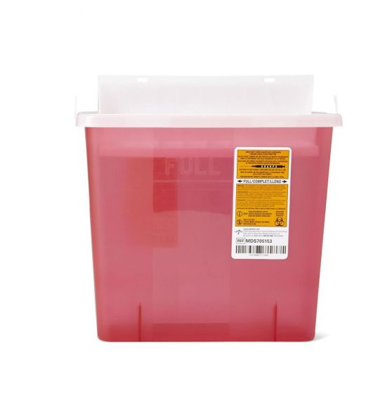 Biohazard Patient Room Sharps Containers (Pack of 20) MDS705153 by Medline