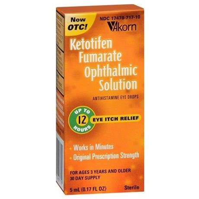 Ketotifen Fumarate Eye Itch Relief  Drops, 0.17oz OTC071710 by Akorn