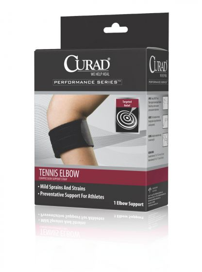 CURAD Tennis Elbow Compression Support Strap 1Ct ORT17100DH by Medline