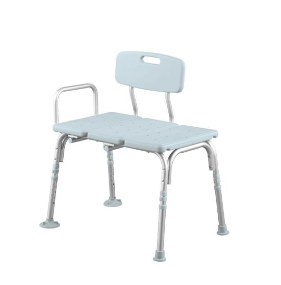 Medline Knockdown Transfer Bench with Microban 1Ct MDS86960KDMBH by Medline