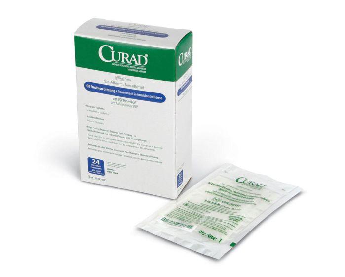 CURAD Sterile Oil Emulsion Gauze Dressing 3x8 1Ct CUR250381H by Medline