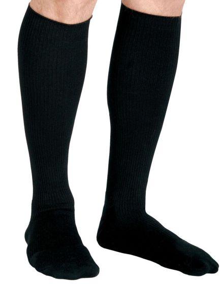 CURAD Cushion Compression Sock 15-20mmHg Blk B Reg 1Pr MDS1714BBH by Medline