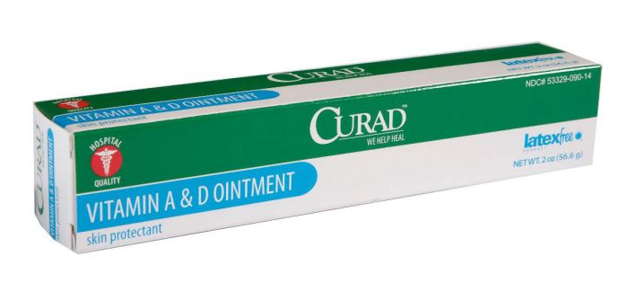 CURAD Vitamin A & D Ointment 2oz Tube 1 Count CUR003501H by Medline
