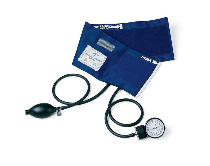Lg Adult PVC Handheld Aneroid Sphygmomanometer 1Ct MDS9388 by Medline