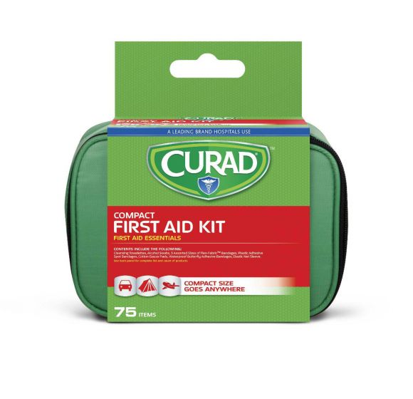 Curad 75-Piece Compact First Aid Kit
