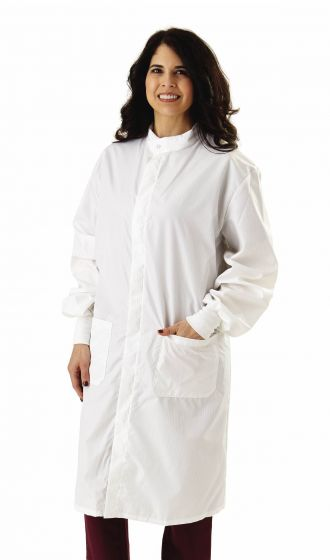 Unisex Antistatic Lab Coat, Size S 6620BLHS by Medline