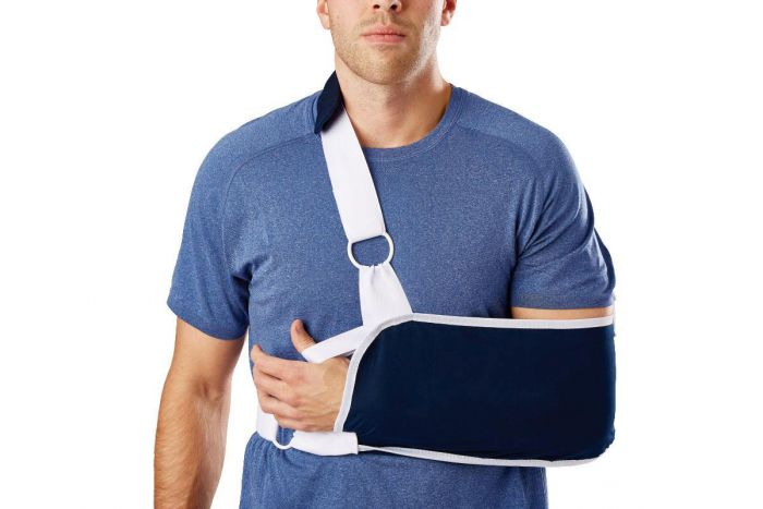Sling-Style Shoulder Immobilizer with Neck Pad ORT16200L by Medline