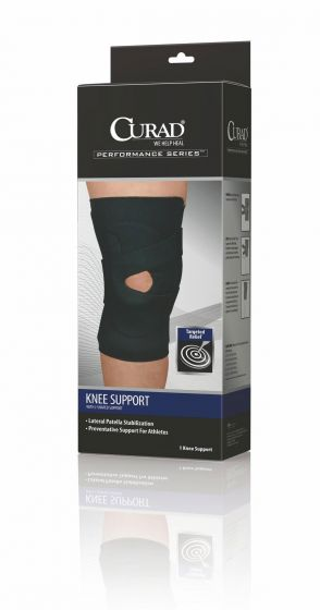 CURAD Knee Support with J-Shaped Support Left L 1Ct ORT23250LLDH by Medline