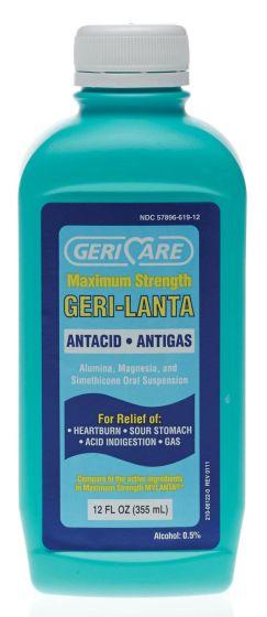 Geri-Lanta Max Strength Antacid/Antigas Liquid 12oz 1Ct OTCS0451C2 by Geri-care Pharmaceuticals
