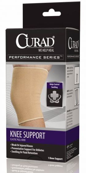 Curad Elastic Pull-Over Knee Supports
