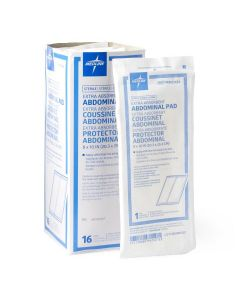 """Medline Caring Sterile Abdominal Pad 8""""x10"""" 320 Count"""
