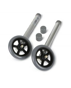 Medline Caster Kit for Walker 5-Inch Wheel 2Ct