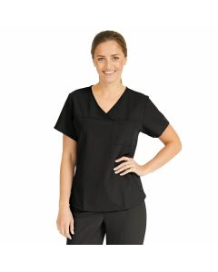 Michigan ave Women's Yoga-Style Stretch Scrub Top with 1 Pocket