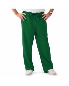Newport ave Unisex Drawstring Waist Scrub Pants with 3 Pockets, Size M Regular Inseam, Hunter Green