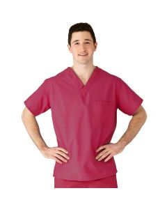 AngelStat Unisex Reversible V-Neck Scrub Top with 2 Pockets, Size S