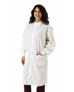 ASEP Unisex Antistatic Lab Coat, White, Size S