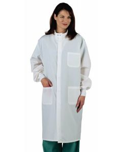 ASEP Unisex Barrier Lab Coat, White, Size L