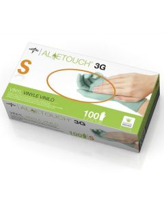 For California Residents Only, Aloetouch 3G Powder-Free Stretch Vinyl Exam Gloves, Size S, 100/Box