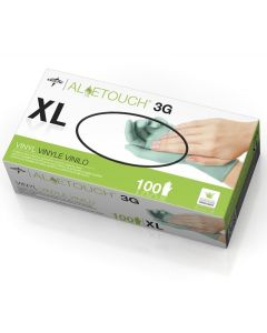 For California Residents Only, Aloetouch 3G Powder-Free Stretch Vinyl Exam Gloves, Size XL, 100/Box