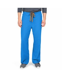 PerforMAX Unisex Reversible Drawstring Scrub Pants with Angelica Color-Coding, Size L Regular Inseam, Royal Blue