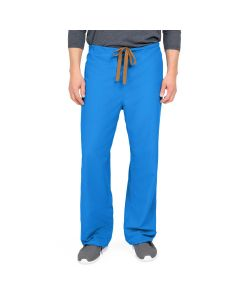 PerforMAX Unisex Reversible Drawstring Scrub Pants with Angelica Color-Coding, Size M Regular Inseam, Royal Blue