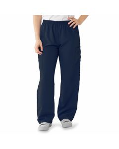 PerforMAX Unisex Elastic Waist Scrub Pants, Size XL Regular Inseam, Navy