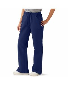 ComfortEase Women's Modern Fit Cargo Scrub Pants with 4 Pockets