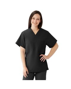 Comfortease Unisex Two Pocket Reversible Scrub Top, Size S