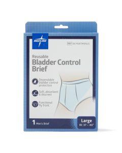 Medline Men's Reusable Bladder Control Brief L 1Ct
