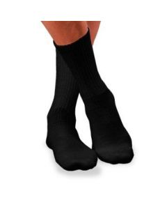 Jobst Sensifoot Diabetic Crew Socks, Unisex, Black, 8-15 mmHg, Size M, One Pair