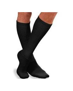 Jobst Sensifoot Over-the-Calf Diabetic Socks, Unisex, Black, Size S, One Pair