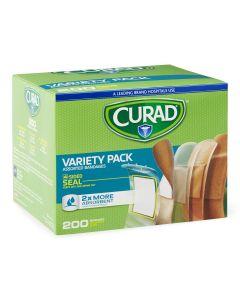 CURAD Adhesive Bandage Variety Pack 200 Bandages