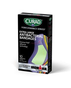 CURAD Performance Series Antibacterial Bandages 10Ct