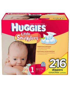 Huggies Little Snugglers Baby Diapers Size 1 240Ct
