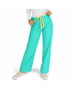 AngelStat Unisex Reversible Drawstring Waist Scrub Pants with Angelica Color-Coding, Size L Regular Inseam, Jade