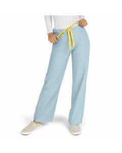 AngelStat Unisex Reversible Drawstring Waist Scrub Pants with Angelica Color-Coding, Size L Regular Inseam, Misty