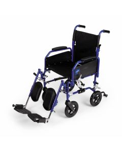 Hybrid 2 Transport Wheelchair with Swing-Away Elevating Footrests